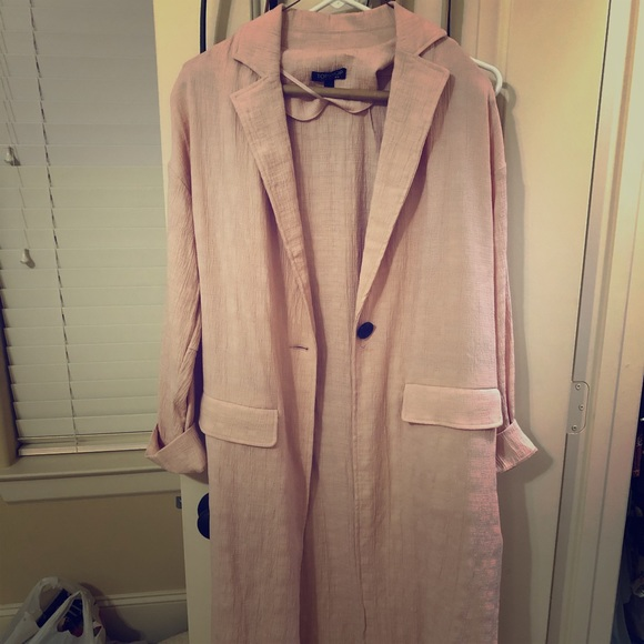 Topshop Other - FULL SLEEVE PINK TOP SHOP DUSTER
